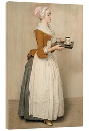 Stampa su legno  The Chocolate Girl - Jean Etienne Liotard