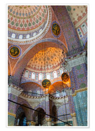 Poster Premium  Yeni Mosque, Eminonu and Bazaar District, Istanbul, Turkey, Europe - Richard Cummins
