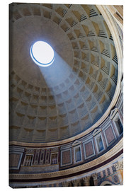 Stampa su tela  A shaft of light through the dome of the Pantheon, UNESCO World Heritage Site, Rome, Lazio, Italy, E - Martin Child