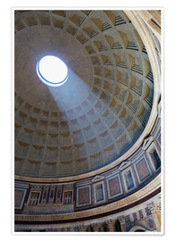Poster Premium  A shaft of light through the dome of the Pantheon, UNESCO World Heritage Site, Rome, Lazio, Italy, E - Martin Child