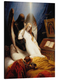 Stampa su alluminio  Angel of Death - Emile Jean Horace Vernet