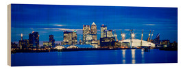 Ian Egner - Panoramic view of London skyline over the River Thames featuring Canary Wharf, O2 Arena and The Shar