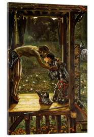 Stampa su vetro acrilico  The Merciful Knight - Edward Burne-Jones