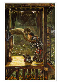 Poster Premium  The Merciful Knight - Edward Burne-Jones