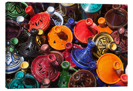 Stampa su tela  Colourful tajines, Essaouira, Atlantic coast, Morocco, North Africa, Africa - Stuart Black