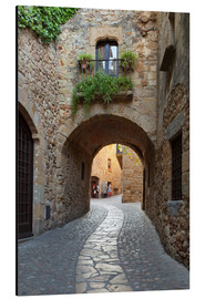 Stampa su alluminio  Alley in Pals, Catalonia - Stuart Black