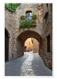 Poster Premium  Alley in Pals, Catalonia - Stuart Black