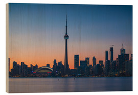 Stampa su legno  View of CN Tower and city skyline, Toronto, Ontario, Canada, North America - Jane Sweeney
