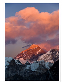 Poster Premium  Mount Everest & Mount Lhotse