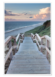 Poster  Stairs down to the beach, Sylt - Markus Lange