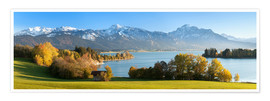 Poster Premium  Lake Forggensee and the Alps - Markus Lange