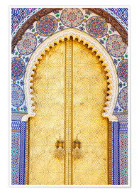 Poster Premium Royal Palace Door, Fez