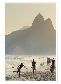 Poster  Locals playing football on Ipanema - Alex Robinson