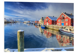 Stampa su PVC  View of colorful fishermen's houses - Roberto Sysa Moiola