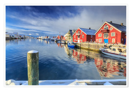 Poster Premium View of colorful fishermen's houses