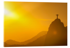 Stampa su vetro acrilico  View from the Sugarloaf of Christ the Redeemer statue on Corcovado, Rio de Janeiro, Brazil, South Am - Michael Runkel