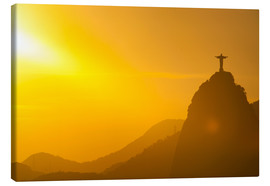 Stampa su tela  View from the Sugarloaf of Christ the Redeemer statue on Corcovado, Rio de Janeiro, Brazil, South Am - Michael Runkel