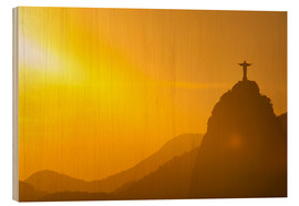 Legno  View from the Sugarloaf of Christ the Redeemer statue on Corcovado, Rio de Janeiro, Brazil, South Am - Michael Runkel