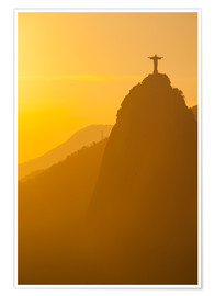 Poster Premium Christ the Redeemer statue, Rio