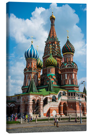Stampa su tela  St. Basil's Cathedral, Moscow - Michael Runkel
