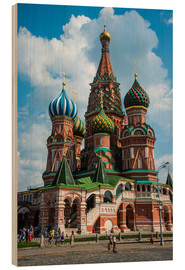 Stampa su legno  St. Basil's Cathedral, Moscow - Michael Runkel