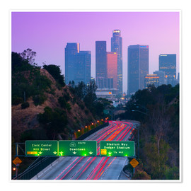 Poster Premium  Route 110, Los Angeles, California, United States of America, North America - Alan Copson