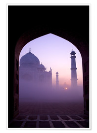 Poster Premium  Taj Mahal at sunrise - Peter Barritt