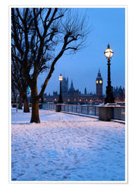 Poster Premium  South Bank in winter - Stuart Black