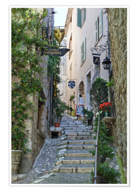 Poster Premium  Alley in Saint-Paul-de-Vence - Stuart Black