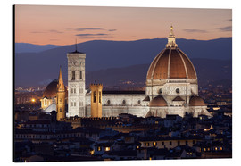 Stampa su alluminio  Duomo at night from Piazza Michelangelo, Florence, UNESCO World Heritage Site, Tuscany, Italy, Europ - Stuart Black