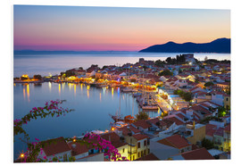 Stampa su schiuma dura  Harbour at dusk, Pythagorion, Samos, Aegean Islands, Greek Islands, Greece, Europe - Stuart Black
