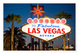 Poster  Las Vegas Sign at night