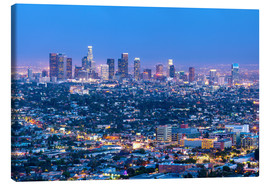Stampa su tela  Cityscape of the Los Angeles skyline at dusk, Los Angeles, California, United States of America, Nor - Chris Hepburn