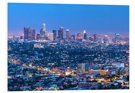 Schiuma dura  Cityscape of the Los Angeles skyline at dusk, Los Angeles, California, United States of America, Nor - Chris Hepburn