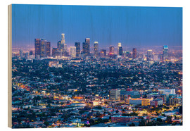 Stampa su legno  Cityscape of the Los Angeles skyline at dusk, Los Angeles, California, United States of America, Nor - Chris Hepburn