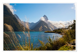 Poster Premium  Mitre Peak, Milford Sound - Matthew Williams-Ellis
