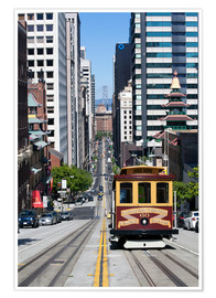 Poster Premium  Cable car crossing California Street - Gavin Hellier