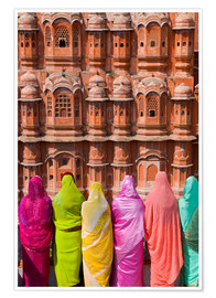 Poster Premium  Women in front of the Hawa Mahal - Gavin Hellier