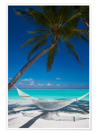 Poster Premium  Hammock on a tropical beach - Sakis Papadopoulos