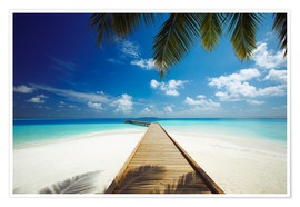 Poster  Wooden jetty out to tropical sea - Sakis Papadopoulos