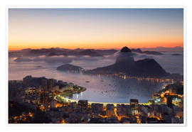 Poster  Sugarloaf Mountain and Botafogo Bay - Ian Trower