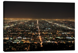 Stampa su tela  Los Angeles at night - Wendy Connett