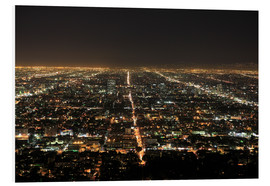 Stampa su schiuma dura  Los Angeles at night - Wendy Connett
