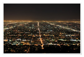 Poster Premium  Los Angeles at night - Wendy Connett