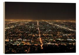 Stampa su legno  Los Angeles at night - Wendy Connett