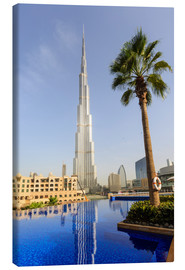 Stampa su tela  Pool and Burj Khalifa - Amanda Hall