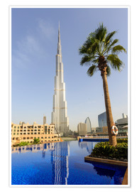 Poster Premium  Pool and Burj Khalifa - Amanda Hall
