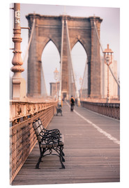 Stampa su vetro acrilico  Bank on the Brooklyn Bridge - Amanda Hall