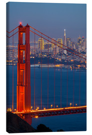 Stampa su tela  Golden Gate Bridge - Miles Ertman