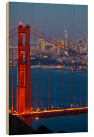 Stampa su legno  Golden Gate Bridge - Miles Ertman